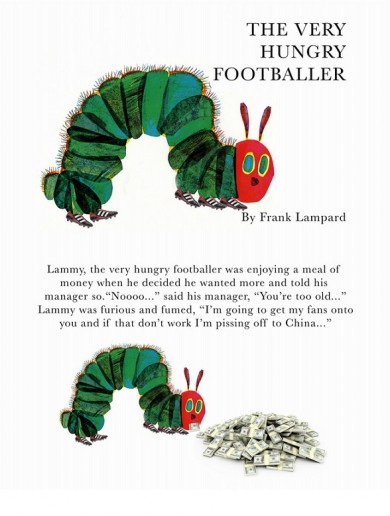 The Very Hungry Footballer… here's a sneak peak of Frank Lampard's new kids book*