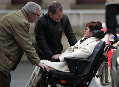 Marie Fleming leaves the High Court in January after losing her case