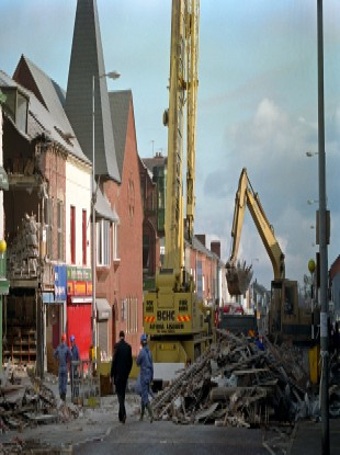 The devastation of the Shankill Road bomb in 1993.