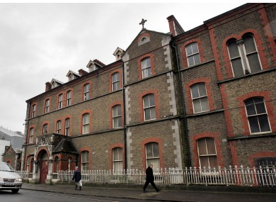 The exterior of the now derelict Sisters of Our Lady of Charity Magdalene Laundry on Sean McDermott Street in Dublin yesterday