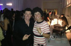 Caroline Wozniacki in a Rory McIlroy wig looks really like… erm, Rory McIlroy
