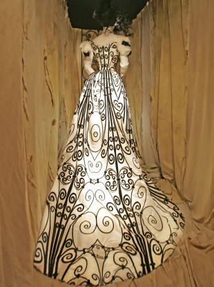 A dress designed by Charles Frederick Worth some time between 1898-1900.