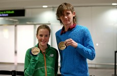 In pictures: Ciaran O'Lionaird and Fionnuala Britton land back with Indoor medals
