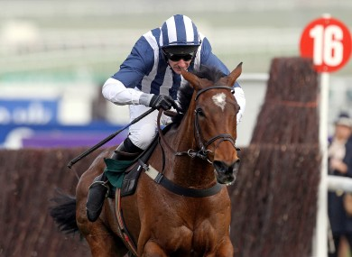 McNamara riding Rebecca Curtis's TeaforThree to victory at the 2012 Cheltenham Festival.