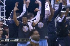 The Denver Nuggets do this dorky 'Italian' celebration whenever Danilo Gallinari hits a big shot