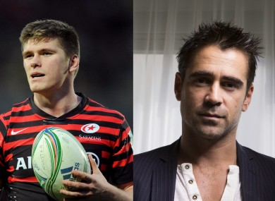 Owen Farrell and Colin Farrell.