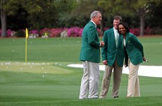 Condoleezza Rice nailed a 40-footer at Augusta yesterday (and Lefty loved it!)