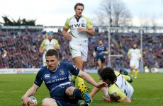 VIDEO: Comedy nutmeg gives Leinster their opening try