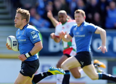 Ian Madigan races clear against Biarritz.