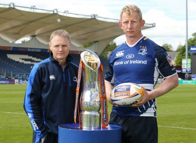 Leinster coach Joe Schmidt and captain Leo Cullen.