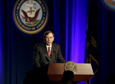 David Petraeus, former army general and head of the CIA.