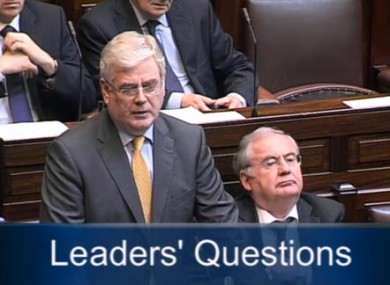 Tánaiste Eamon Gilmore during Leaders' Questions today