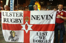 Lest we forget: Ulster fans bring memory of Nevin Spence to Melbourne