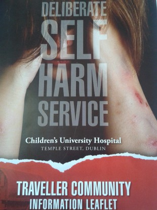 The cover of the self-harm leaflet