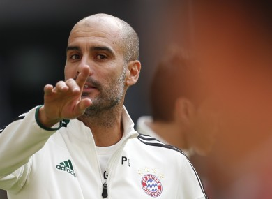 FC Bayern Munich head coach Pep Guardiola.