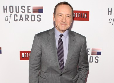 Kevin Spacey at the premiere of House of Cards, Netflix's first original serie
