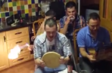 Donegal lads stage their own rally race … in their kitchen