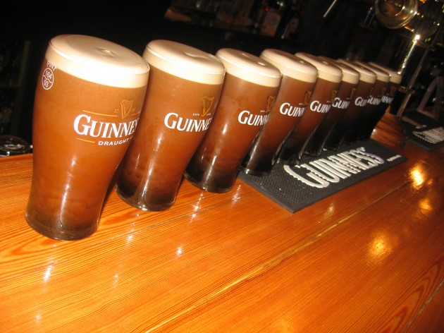 Nine pints of Guinness