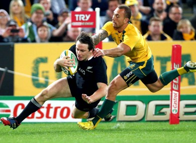 Ben Smith has now scored five tries in two games, and seven days, against Australia.