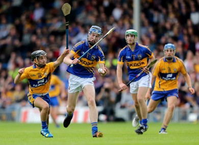 Clare's Cathal O'Connell and Tomas Hamill of Tipperary.