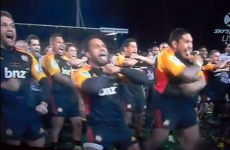 Spine-tingling Haka from Chiefs as they celebrate Super Rugby success