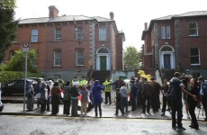 Gardaí on scene at Egyptian Embassy protest