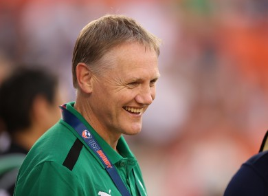 Joe Schmidt has been making his way around the provinces this summer.