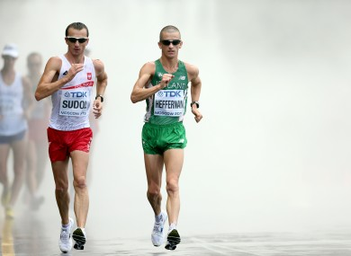 Rob Heffernan in action during the Men's 50km Walk.