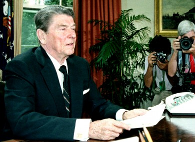 U.S. President Ronald Reagan in 1986