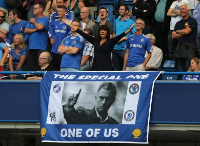 Jose Mourinho was given a warm reception at Stamford Bridge today.