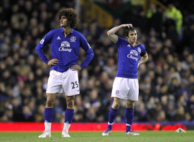 Fellaini and Baines.