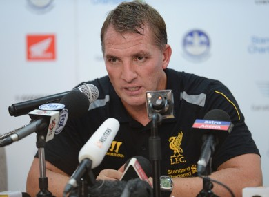 Forward planning: Brendan Rodgers is ready to fight for his star striker, he says.