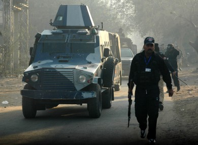 An armored car in Lahore