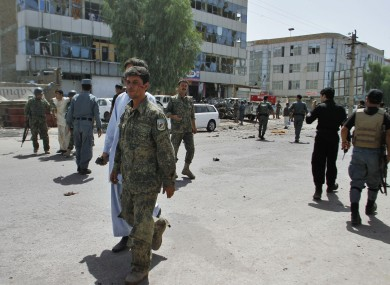 File photo after a suicide bomb explosion in Kandahar