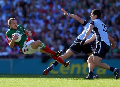 Mayo's Andy Moran in action yesterday against Dublin.