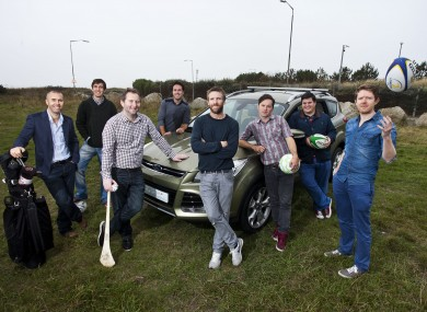 Newstalk's Off the Ball team: Dave McIntyre, Diarmuid Lyng, Ger Gilroy, Joe Molloy, Colm Parkinson, Donny Maho
