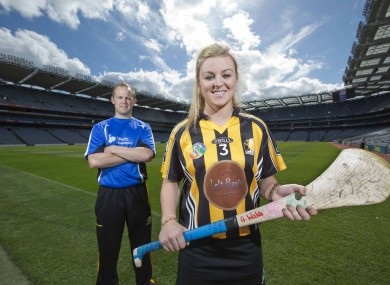 Good genes: At the Liberty Insurance camogie final press day were Grace Walsh of Kilkenny, and her brother Tommy.