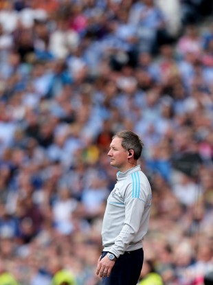 Cool head: Dublin's manager Jim Gavin on the line today.