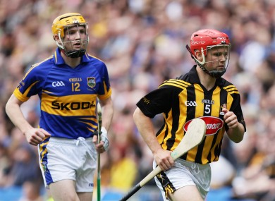 Tipperary's Lar Corbett and Kilkenny's Tommy Walsh.