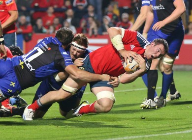 Peter O'Mahony scored a second half try in Munster's 23-9 win.