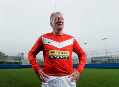 Stapleton promoting the Setanta Sports Pack in Dublin on Tuesday.