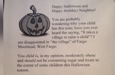 Woman plans to hand out letters to obese trick-or-treating children instead of sweets