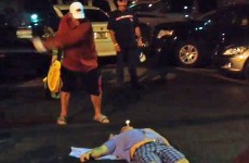 John Daly hit a tee shot out of a guy's mouth in the middle of a parking lot