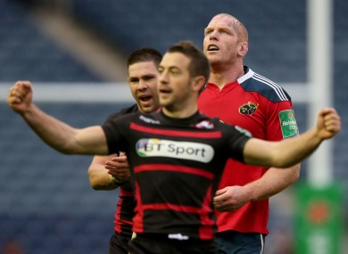 O'Connell and his pack came off second best at Murrayfield.