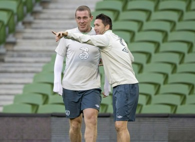 Dunne and Keane: both in line to feature against Kazakhstan tomorrow night.