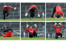 St Brigid's goalkeeper Shane Curran enjoyed himself today