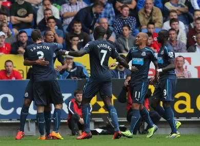Remy and co celebrate against Cardiff.