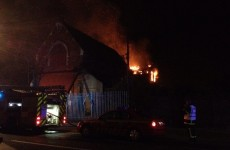 Fire breaks out at derelict church metres from Croke Park