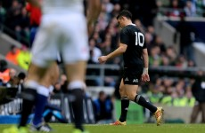 Injured Dan Carter limps off as All Black winning streak rumbles on