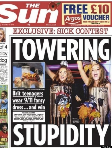 19-year-old British girls criticised for Twin Towers Halloween costumes